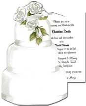 Product Image For Wedding Cake with Roses (With Glitter)