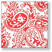 Product Image For Tattoo Red Luncheon Napkin