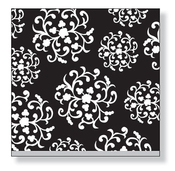 Product Image For Hanging Ornaments Black Luncheon Napkin
