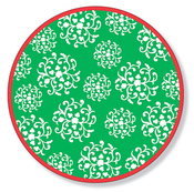 Product Image For Hanging Ortnaments Green Dinner Plate