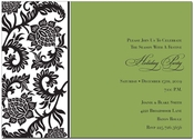 Product Image For Black Damask Border Green Holiday