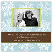 Product Image For Watermark Snowflakes Photo Card