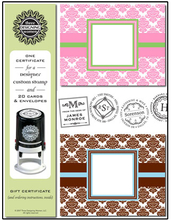 Product Image For Gift Box Damask Note set