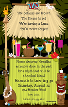 Product Image For Tiki Hut Digital Invitation