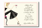 Product Image For Cocktail Girl on White Cardstock