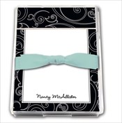Product Image For Black and white Dotted Swirls  Notepad