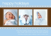 Product Image For Sweater Border Blue Photo Card