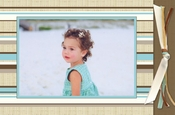 Product Image For Beach Blanket Caribbean Photo card with ribbon
