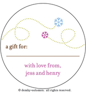Product Image For Snow Flying personalized Gift Sticker