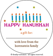 Product Image For Happening Hanukkah personalized Gift Sticker