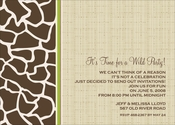 Product Image For Giraffe linen dark