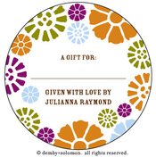 Product Image For Groovy Garden personalized Gift Sticker
