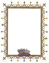 Product Image For Mardi Gras Jewels Laser Paper