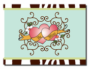 Product Image For Be Mine-Hearts Note Card