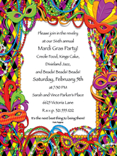 Product Image For Mardi Gras Digital Invitation