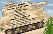 Product Image For Army Tank Digital Invitation