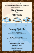 Product Image For Baby Shower Boy Digital Invitation