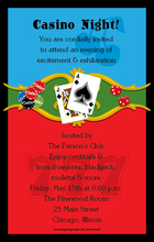 Product Image For Casino Night Digital Invitation
