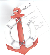 Product Image For Nautical Anchor with Rope and Tag