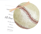 Product Image For Baseball w/ Rafia & tag