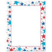 Product Image For Red White and Blue Stars Letterhead
