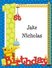 Product Image For 1st Birthday Fun Boy Note Card