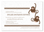 Product Image For Little Monkey Birth Announcement