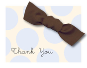 Product Image For Sweet Blue Dots with Bow Note Card