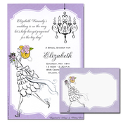 Product Image For Vintage Bride Blonde Note Card