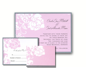 Product Image For French Peony Pink Reply Card