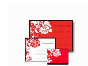Product Image For French Peony Red Note Card