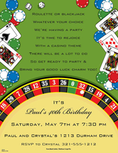 casino invitations | casino party invitations | casino stationery, Party invitations