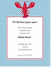 Product Image For Lobster on Gingham Designer Paper
