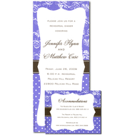 Product Image For Luxe Mix -lavender Invitation