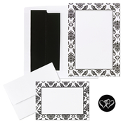 Product Image For Black & White Damask Wedding Kit