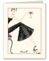 Product Image For Cocktail Girl Note card