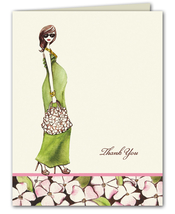 Product Image For Floral Girl Notecard