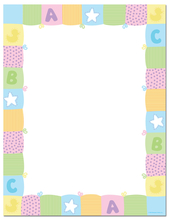Product Image For Pastel Baby Quilt Letterhead