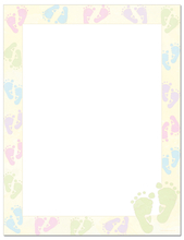 Product Image For Green Baby Feet Letterhead