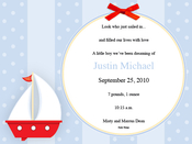 Product Image For Sailboat on Blue Digital Invitation