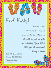 Product Image For Flip Flops Digital Invitation