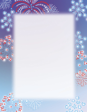 Product Image For Patriotic Stars Letterhead