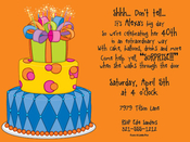 Product Image For Birthday Cake Digital Invitation