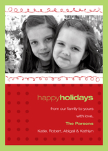 Product Image For Christmas Loops Photo Card