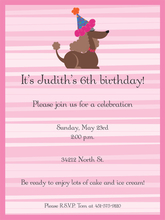 Product Image For Pink Stripes Birthday Dog