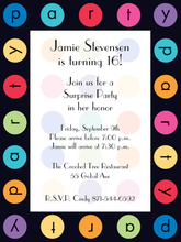 Product Image For Colorful Circles Birthday with Black Border