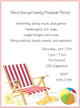 Product Image For Beach Chair  Invitation