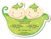 Product Image For Baby Twins Pea Pod Die Cut