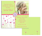 Product Image For Growing Up Girl Square Invitation