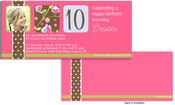 Product Image For Chocolate Polka Dots Band Floral Birthday Invitation
